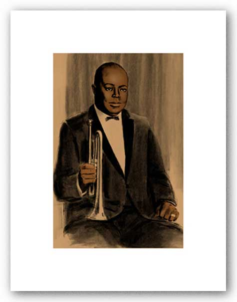 Joe King Oliver - Signed Giclee by Clifford Faust