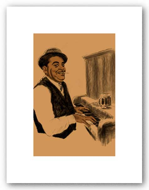 Fats Waller - Signed Giclee by Clifford Faust