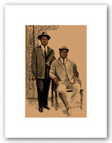 Louis and Joe - Signed Giclee by Clifford Faust
