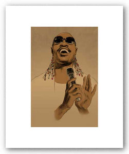Stevie Wonder - Pencil Signed Artist's Proof Giclee by Clifford Faust