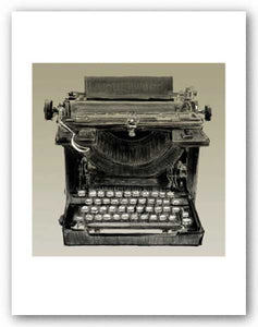 Vintage Typewriter, Underwood - Signed Giclee - This is not an actual typewriter by Clifford Faust
