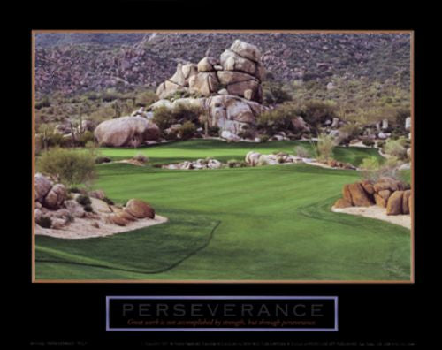 Perseverance - Golf by Motivational