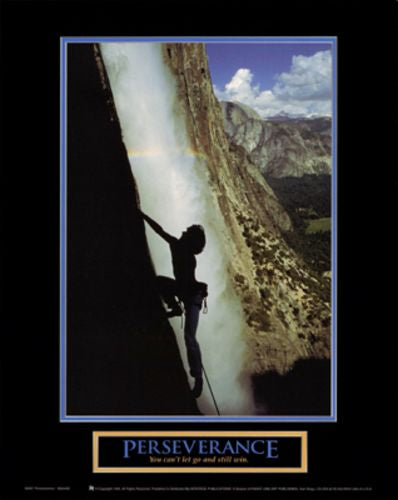 Perseverance - Waterfall Climber by Motivational