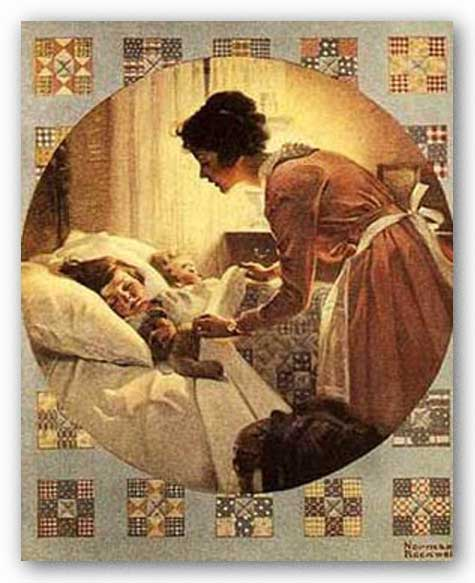 Mother's Little Angel by Norman Rockwell