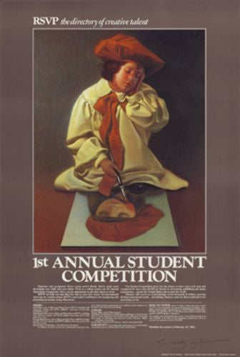 RSVP Student Competition 1, 1982 - Signed by Alex Gnidziejko