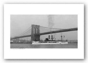 USS Maine Passing Under Brooklyn Bridge, 1896
