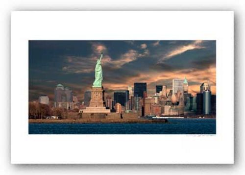 Downtown NYC Panorama - Signed by Viktor Balkind