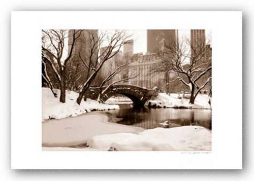 Central Park, Plaza in Winter (sepia) - Signed by Viktor Balkind