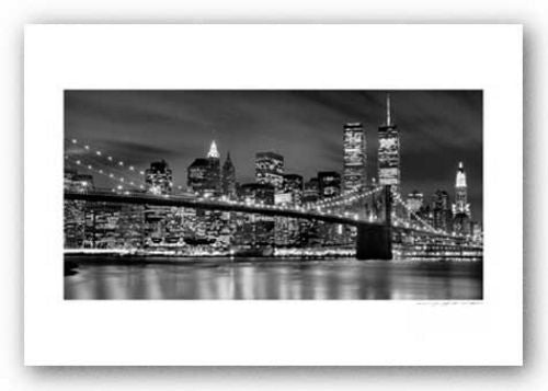 Brooklyn Bridge, Night - Signed by Viktor Balkind