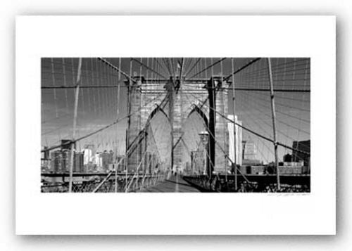 Brooklyn Bridge (black and white) - Signed by Viktor Balkind
