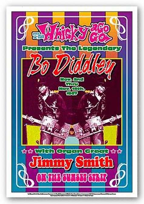Bo Diddley, 1967: Whisky-A-Go-Go, Los Angeles by Dennis Loren