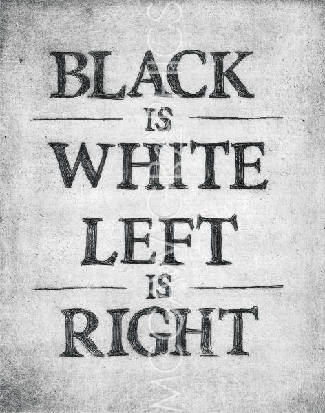 Black is White Left is Right by Urban Cricket