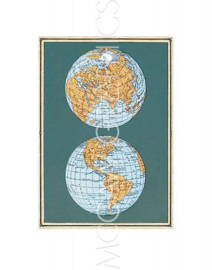 Map of the World's Hemispheres, two views