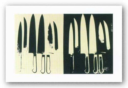 Knives, c. 1981-82 (cream and black) - Giclee by Andy Warhol