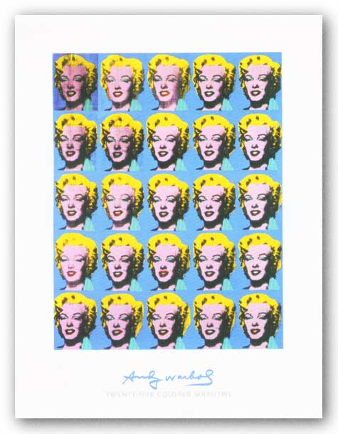 Twenty-Five Colored Marilyns, 1962 - Giclee by Andy Warhol