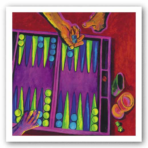 Backgammon - Giclee on Canvas by Consuelo Gamboa