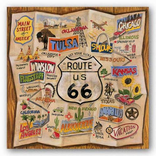 Route 66 by Karen Dupre