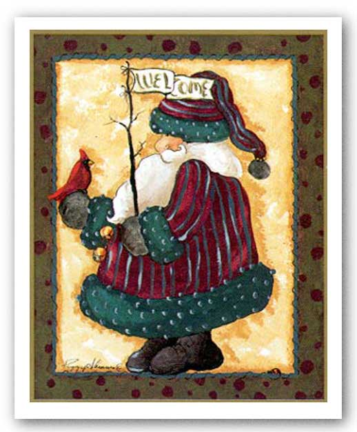 Welcome Santa by Peggy Abrams