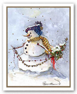 Snowman Two by Peggy Abrams