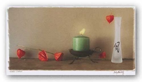 Green Candle by Judy Mandolf
