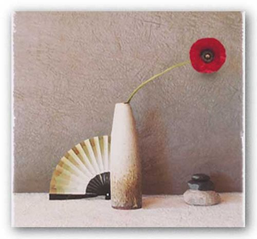 Poppy with Fan by Judy Mandolf