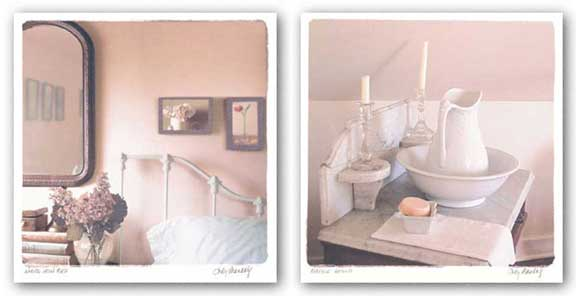 Marble Stand and White Iron Bed Set by Judy Mandolf
