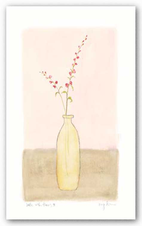 Bottle With Flowers ll by Lara Jealous