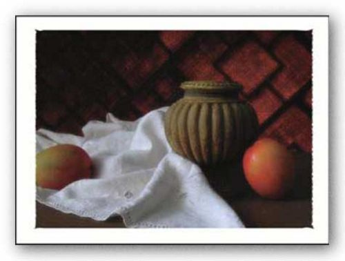 Urn with Mangoes by Judy Mandolf