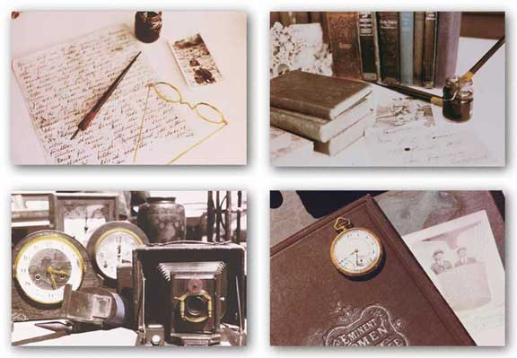 Time Flies-Love Letter-Letters From Abroad-Trappings of Time Set by April S. White
