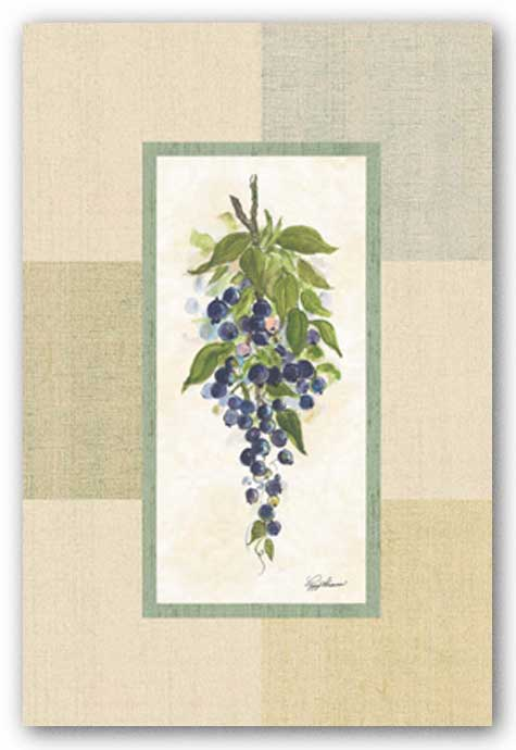 Pattern Berries I by Peggy Abrams