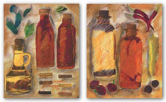 Peppers and Oil Set by Tanya M. Fischer