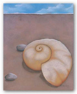 Sand, Shell and Sky I by Phyl Schock