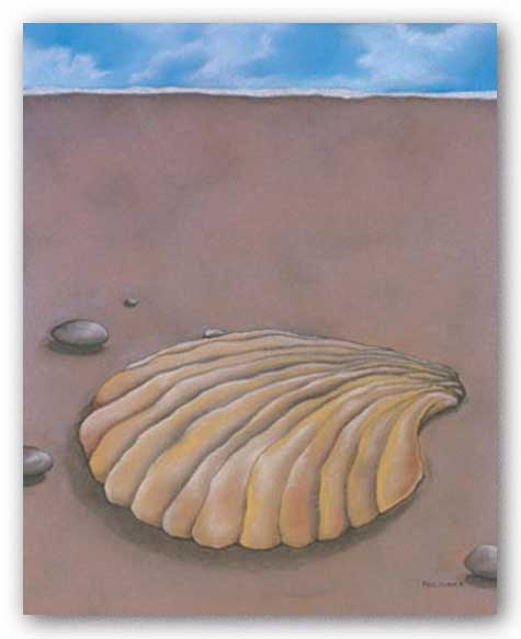 Sand, Shell and Sky IV by Phyl Schock