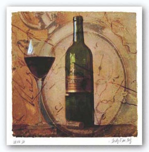 Wine III by Judy Mandolf