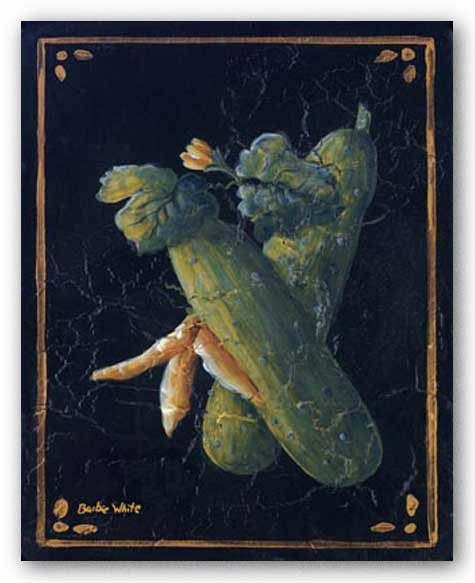 Vegetable On Black III by Barbie White