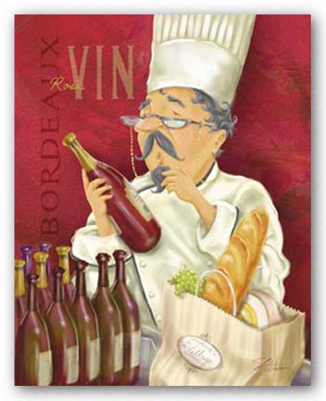 Wine Chef I by Shari Warren