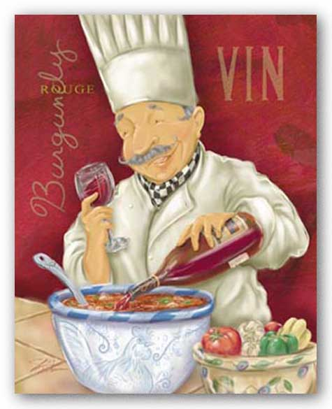 Wine Chef IV by Shari Warren