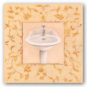 Golden Floral Sink by Capital Decor