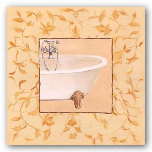 Golden Floral Tub by Capital Decor