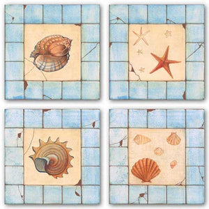 Blue Tile Set by Capital Decor