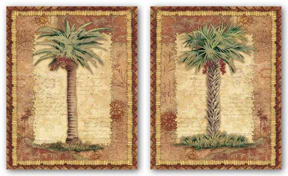 Classic Palm Set by Kathleen Denis