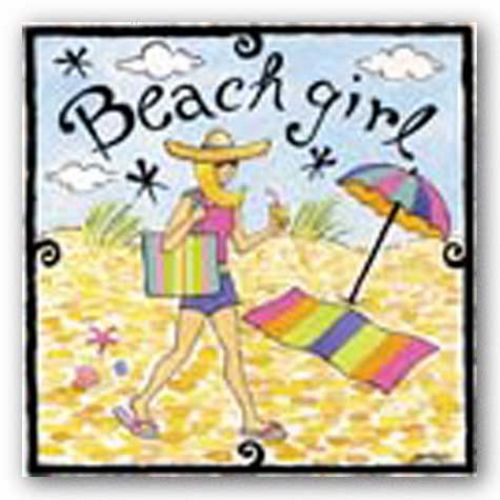 Beach Girl I by Jennifer Brinley