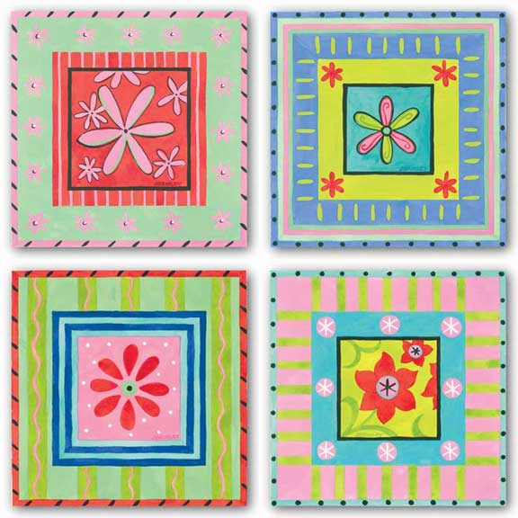 Flower Power Set by Jennifer Brinley