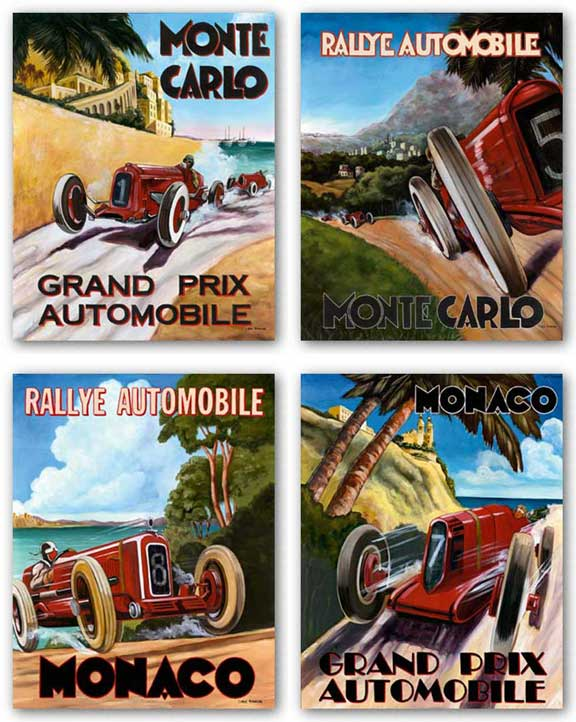 Monaco Grand Prix-Monaco Rallye-Grand Prix Automobile-Monte Carlo Rallye Set by Chris Flanagan