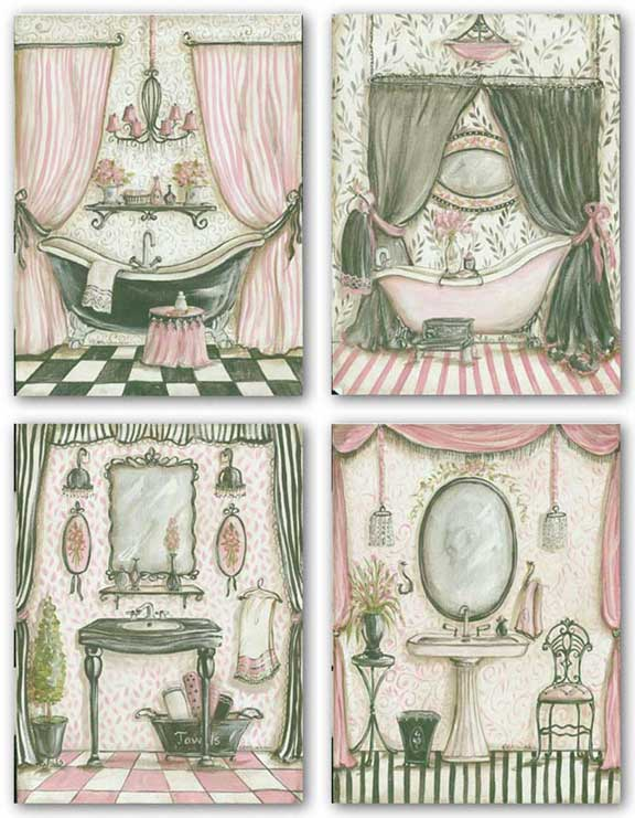 Fanciful Bathroom Set by Kate McRostie