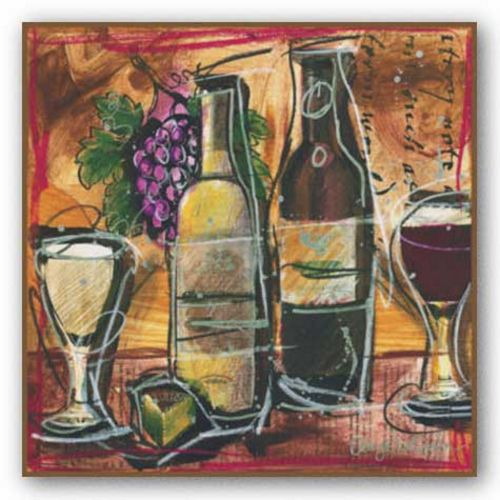 Wine and Cheese I by Tanya M. Fischer