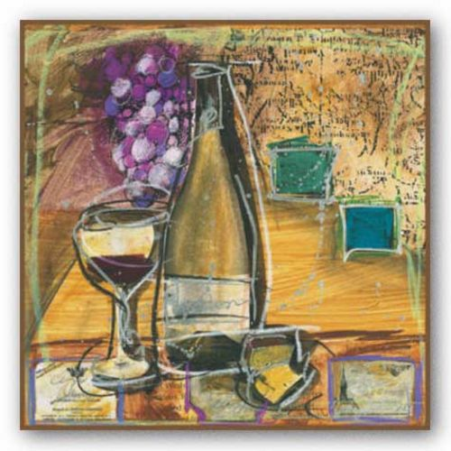Wine and Cheese II by Tanya M. Fischer