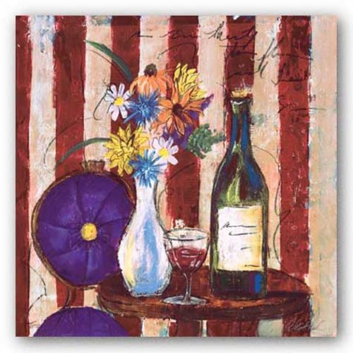 Wine and Flowers II by Celeste Peters