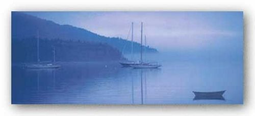 Ocean-Bar Harbor Misty Morning by Ruth Burke