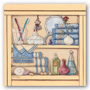 Hers Bathroom Shelf by Janet Kruskamp